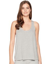 Eberjey - Sadie Stripes - The Racerback Tank Top (marengo Grey) Women's Clothing - Lyst