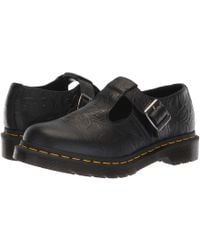 Dr. Martens - Polley Emboss Core (black Floral Emboss) Women's Maryjane Shoes - Lyst