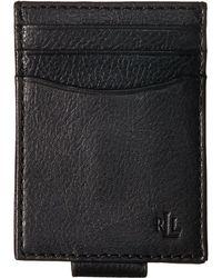 Lauren by Ralph Lauren - Oil Milled Slim Card Case (black) Credit Card Wallet - Lyst