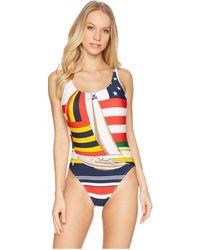 Polo Ralph Lauren - Sailboat Side Plunge One-piece (multi) Women\u0027s Swimsuits  One