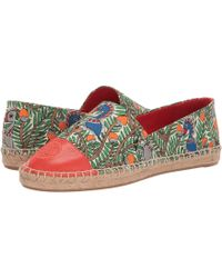 348f8dc9295e Tory Burch - Color Block Flat Espadrille (ivory black Leather) Women s  Shoes -