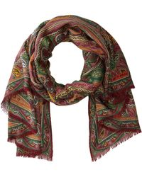 Etro - 70 X 170 Scarf (med Red) Scarves - Lyst