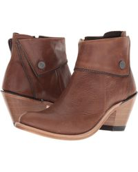Old West Boots - Zippered Ankle Boot (brown) Cowboy Boots - Lyst