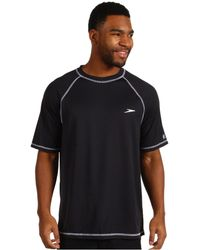 Speedo - Easy S/s Swim Tee (black) Men's Swimwear - Lyst