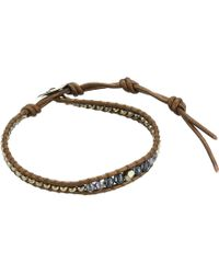 Chan Luu - Single Button Bracelet (dark Champagne Mix) Bracelet - Lyst
