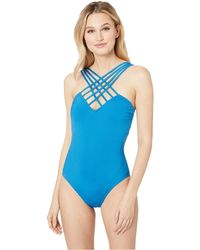 d0b8f8658d Kenneth Cole - Sexy Solids Strappy Mio One-piece (ocean) Women's Swimsuits  One