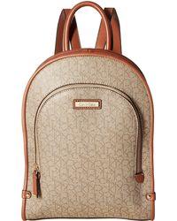 Calvin Klein - Monogram Backpack (mini Textured Khaki/brown Luggage) Backpack Bags - Lyst