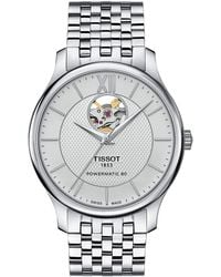 Tissot - Tradition Powermatic 80 Open Heart - T0639071103800 (silver/grey) Watches - Lyst