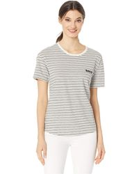 Roxy - Passion Cocktail Tee (anthracite/young Stripes) Women's T Shirt - Lyst