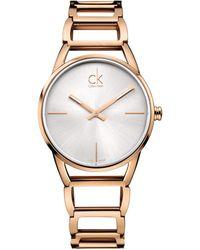Calvin Klein - Stately Watch - K3g23626 (silver/rose Gold) Watches - Lyst