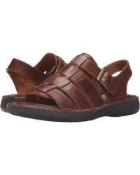b718f86a4738 Born - Joshua (black Full Grain Leather) Men s Sandals - Lyst