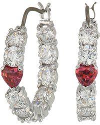 Swarovski - Love Hoop Pierced Earrings - Lyst
