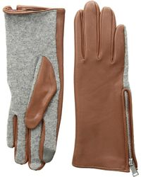 Lauren by Ralph Lauren - Perforated Gusset Touch Gloves - Lyst
