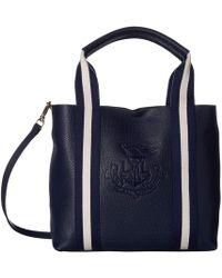 d0b1a15328cc Lauren by Ralph Lauren - Huntley Harper 27 Small Tote (navy) Handbags - Lyst