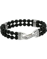 John Hardy - Classic Chain Double Row Bead Bracelet With Black Onyx (silver) Bracelet - Lyst