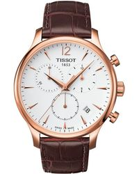 Tissot - Tradition Chronograph - T0636173603700 (mother-of-pearl/brown) Watches - Lyst