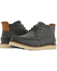 faebfa393b0 TOMS - Chukka Waterproof (black Leather) Men s Lace Up Casual Shoes - Lyst