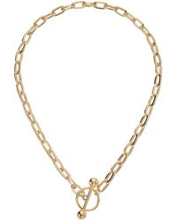 Steve Madden - Rolo Ring Chain Bar Necklace - Lyst