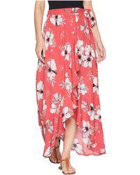 "Jack BB Dakota - Kaliyah ""tahitian Petals"" Printed Wrap Skirt - Lyst"