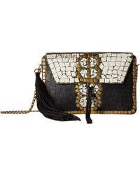Sam Edelman - Saskia Mosaic Box (black/white) Clutch Handbags - Lyst