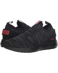 c7d183cf522 PUMA - Nrgy Neko Engineer Knit ( Black asphalt high Risk Red) Men s