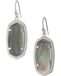 Kendra Scott Dani Earrings Rhodium Slate Earring Lyst