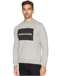 Calvin Klein - Institutional Logo Crew Neck Sweatshirt (black) Men's Sweatshirt - Lyst