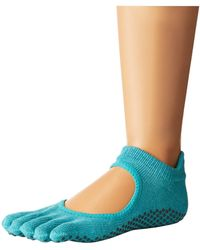 ToeSox - Bellarina Full Toe W/ Grip (charcoal/lime) Women's Crew Cut Socks Shoes - Lyst