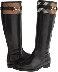 Burberry | Dougal Leather Knee-High Boots | Lyst