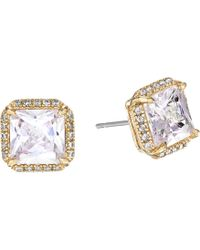 Kate Spade - Save The Date Pave Princess Cut Stud Earrings - Lyst