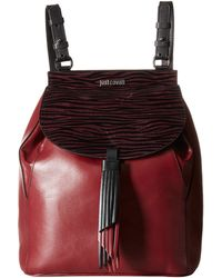 Just Cavalli - Leather/zebra Suede Backpack - Lyst