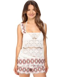 Queen & Pawn - Kea Lace Embroidered Top - Lyst