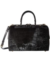 Alice + Olivia - Croc Embossed Haircalf Eloise Bowler Bag - Lyst