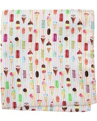 Eton of Sweden - Ice Cream Cone Pocket Square - Lyst