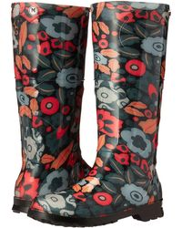 M Missoni Retro Floral Print Rain Boot - Black