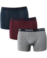 Threadbare - Acton 3 Pack Boxers - Lyst