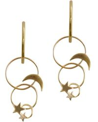 Zimmermann - Star Moon Link Fine Earring - Lyst