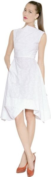 Vivienne Westwood Anglomania Embroidered Sateen Dress - Lyst