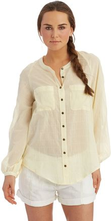 Free People Embroidered Back Button Down Shirt - Lyst