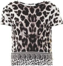 Versus  Leopardprint Safetypin Top - Lyst