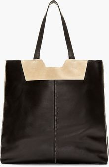 Proenza Schouler Black Leather and Suede Tote Bag - Lyst