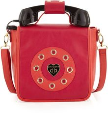 Betsey Johnson Ring Me Phone Pebbled Crossbodysatchel Bag  - Lyst