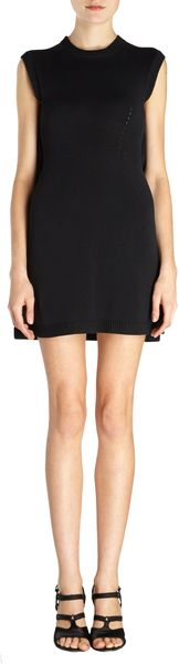 Balenciaga Sleeveless Flareback Sweater Dress - Lyst