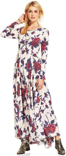 Free People First Kiss Floralprint Maxi Dress - Lyst