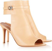 Gianvito Rossi Cutout Leather Ankle Boots - Lyst