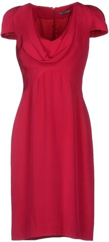 Alexander McQueen Kneelength Dress - Lyst
