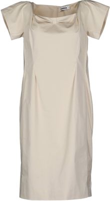 Jil Sander Kneelength Dress - Lyst