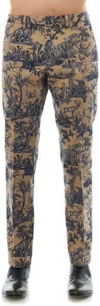 Valentino Jungleprint Cotton Chinos - Lyst