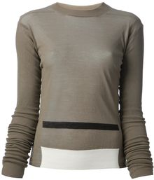 Rick Owens Striped Sweater - Lyst