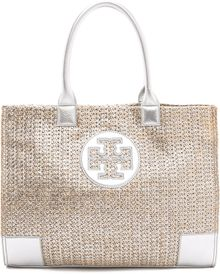 Tory Burch Ella Metallic Straw Tote - Lyst